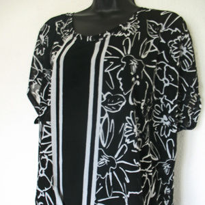 Lane Bryant Plus Size 18/20W Black White Tunic